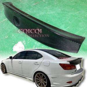 Carbon Fiber 2005-2012 LEXUS IS250 IS350 Sedan W type trunk spoiler ◎