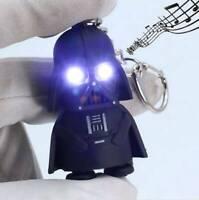 Light Up LED Star Wars Darth Vader With Sound Flashlight Torch  Keyring Keychain
