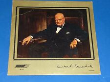 """THE VOICE OF WINSTON CHURCHILL"" - RECORD ALBUM LP - ENGLISH IMPORT"