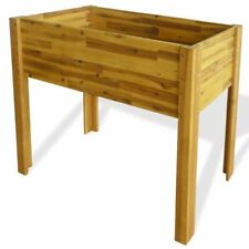 Solid Acacia Wood Raised Garden Raised Bed Flower Bed Outdoor Planter Home Yard