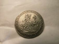 German States 1741 Saxony 1/2 Vicariat Issue Silver Thaler Coin            #52.8