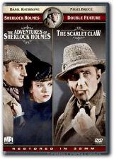 Adventures of Sherlock Holmes/The Scarlet Claw DVD New Basil Rathbone Ida Lupino