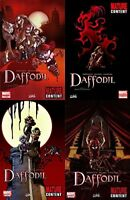Daffodil #1-3 (2010) Marvel - 4 Comics