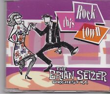The Brian Setzer Orchestra -Rock This Town Promo cd maxi single 2 trracks
