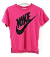 NIKE Boys T-Shirt Top 12-13 Years L Large Pink Modal Cotton & Nylon