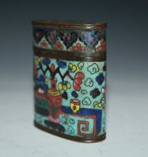 A beautiful 19th Century Chinese cloisonne opium box 689