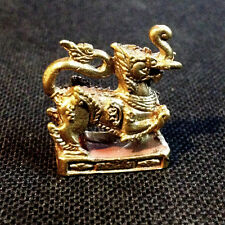Thai Amulet Kodchasing Lion & Elephant mixed Miniature Figurine Power Lucky DBD