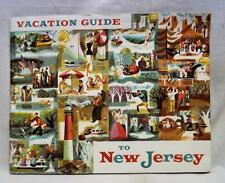 NEW JERSEY SOUVENIR TOURISM & TRAVEL BROCHURE VACATION GUIDE 1950s VINTAGE