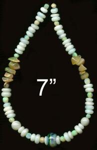 "OPAL Beads Australian White 3-8mm Graduated Rondells Rounds Genuine 7"" Strd"