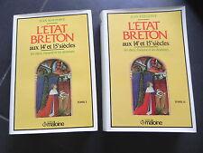 JEAN KERHERVE L' ETAT BRETON AUX 14e ET 15e SIECLES Ducs Argent 2/2 Maloine 1987