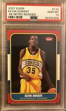 2007 Fleer Kevin Durant '86 Retro Rookie #143 PSA 10 GEM MINT