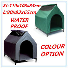 Waterproof Dog Kennel Pet House Portable Color Size Choice Elevated Bed Flea D