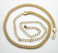 Gold Mesh Ladies Waist Chain Charm Belt in Gold -Adjusatble So One Size Fits All