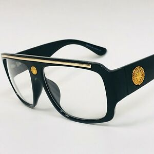 Men Clear Lens Eye Glasses Hip Hop Shades Fashion Oversized Designer Sunglasses