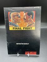 Final Fight Manual Only Super Nintendo SNES Original Instruction Booklet