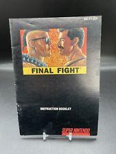 Final Fight Manual Only Super Nintendo SNES Original Instruction Booklet