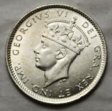 Newfoundland 1941 Silver 10 Cents, Choice AU Grade & Lustrous, Old Date KGVI