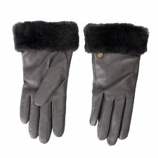 UGG 100% Leather Gray Women's Winter Gloves Sz s