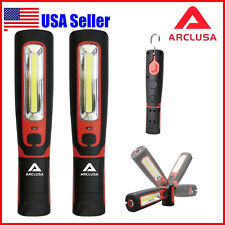 2PC Arclusa Handheld LED Rechargeable Magnet Inspection Work Light 360°Rotation