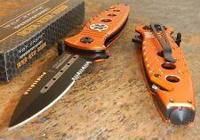 TAC FORCE Spring Assisted Opening EMS EMT Flipper Tactical Rescue Pocket Knife