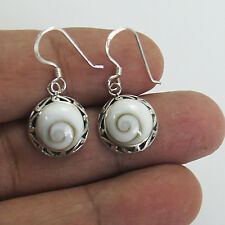 Pretty Thailand Shiva Eye Earrings Sterling Silver  1002