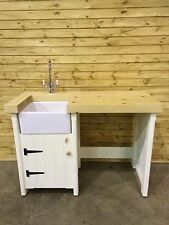 Pine Freestanding Kitchen Handmade Small Mini Baby Belfast Butler Sink Unit