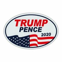 """Oval Magnet - Donald Trump, Mike Pence 2020 - Magnetic Bumper Sticker - 6"""" x 4"""""""