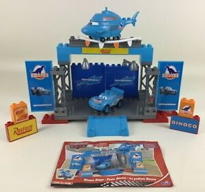 Disney World Of Cars Mega Bloks 7785 Dinoco Stage Helicopter McQueen Building