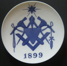 "ROYAL COPENHAGEN 1899 Free Mason Lodge in Denmark Only 800 copies size  7"""
