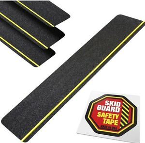 """Outdoor Stair Treads Non Slip 6"""" x 24"""" (4-Pack) SKID GUARD"""