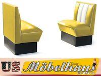 HW-70-Y American Dinerbank Sitzbank Diner Bänke Möbel 50´s USA Style Gastronomie