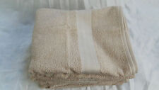 "THE BIG ONE BEIGE BEACH BATH TOWEL BORDER COTTON REVERSIBLE Approx 53"" x 30"" NEW"