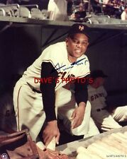 Nice Signed Willie Mays 8X10 Color RP Photo w/coa  Free Shipping