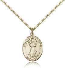 "Saint Francis Of Assisi Medal For Women - Gold Filled Necklace On 18"" Chain -..."