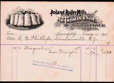 1898 Kennedy NY Poland Miller Mills Wm Thomas & Son Vintage Letter Head Rare