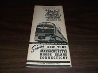 SEPTEMBER 1947 NH NEW HAVEN NYNH&H PUBLIC TIMETABLE FORM 200