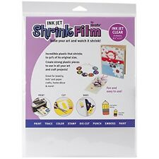 Grafix Shrink Film, Printable, Clear Inkjet, 6 Sheets in One Packet