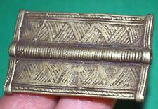 Rare Antique Baule Brass Lost Wax Cast Pendant Bead Ivory Coast, African Trade