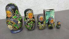 Ancienne poupée russe Matriochkas vintage, 5 éléments.