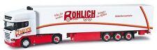 Scania R TL '13 + semi-rqe frigo Rôhlich - Herpa - Echelle 1/87 (Ho)