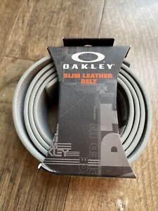 Oakley Slim Leather Belt - Grey