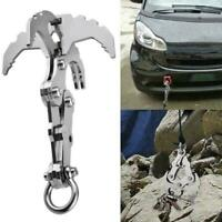 1*Gravity Grappling Hook Survival Folding Stainless Claw Climbing Camping S N2Y6