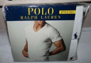 NIP MENS POLO RALPH LAUREN UNDERSHIRTS~WHITE~BIG & TALL 4X