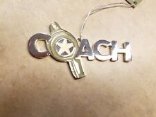 New Coach with Whistle Silvertone Ornament Midwest CBK