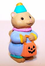 1994 Hallmark Squirrel as Clown New Merry Miniature Halloween Never Used Qfm8263