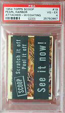 RARE 1954 TOPPS SCOOPS w/coating PEARL HARBOR ATTACKED #19 PSA 4