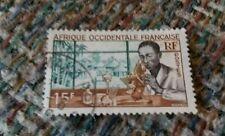 Vintage Cancelled stamp Afrique Occidentale Francaise RF Researchers Biologist