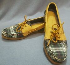 Sperry Top Sider A/O 2 Eye Tartan Plaid Fly Fish Boat Shoes Size 10M STS93530