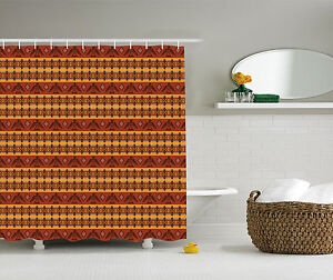 Tribal Style Composed with Eagles and Traditional Design Fabric Shower Curtain