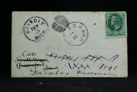 RPO: B C & W M 1870s Cover, Mass, New Hampshire & Canadian Railroad